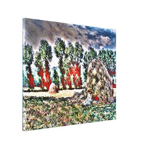 Claude Monet - Haystack at Giverny Gallery Wrap Canvas