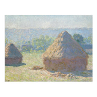 Claude Monet - Haystacks, End of Summer Postcard