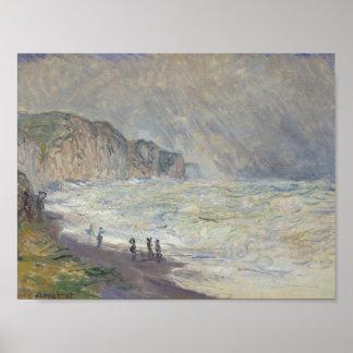 Claude Monet - Heavy Sea at Pourville Poster