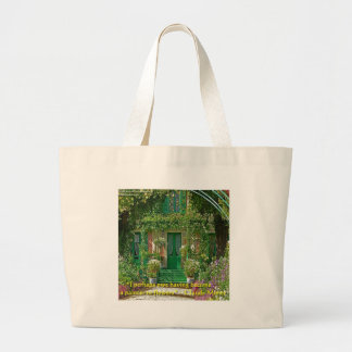 Claude Monet Home & Quote Gifts Cards & Tees Large Tote Bag