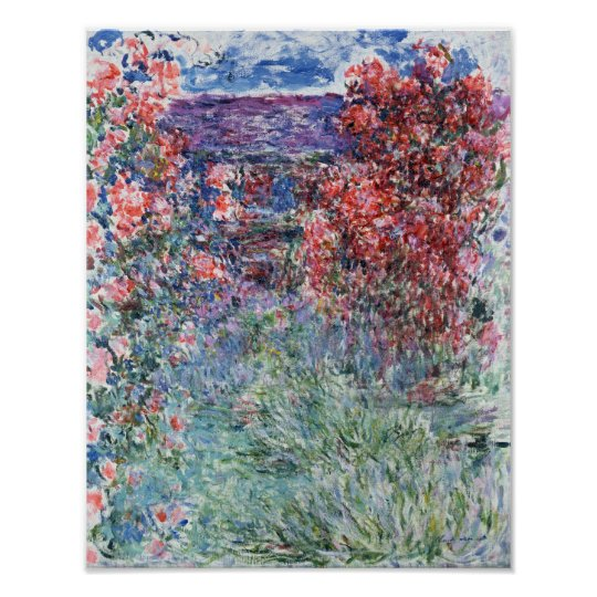 Claude Monet | House at Giverny under the Roses Poster
