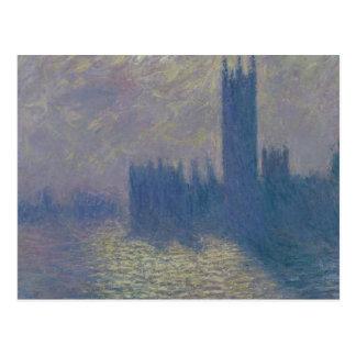 Claude Monet | Houses of Parliament, Stormy Sky Postcard
