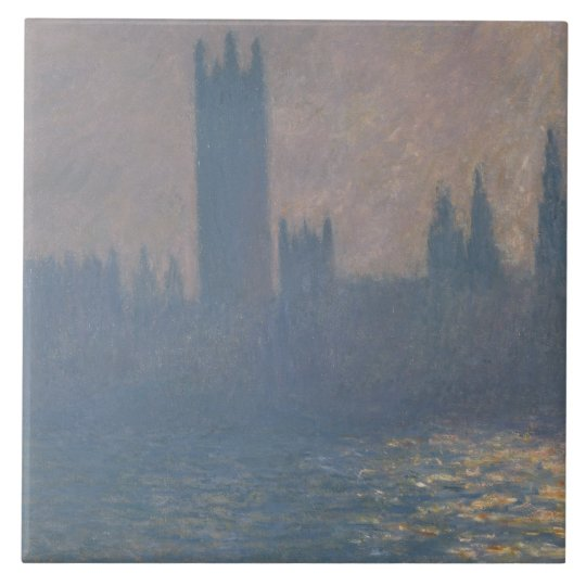 Claude Monet - Houses of Parliament, Sunlight Large Square Tile
