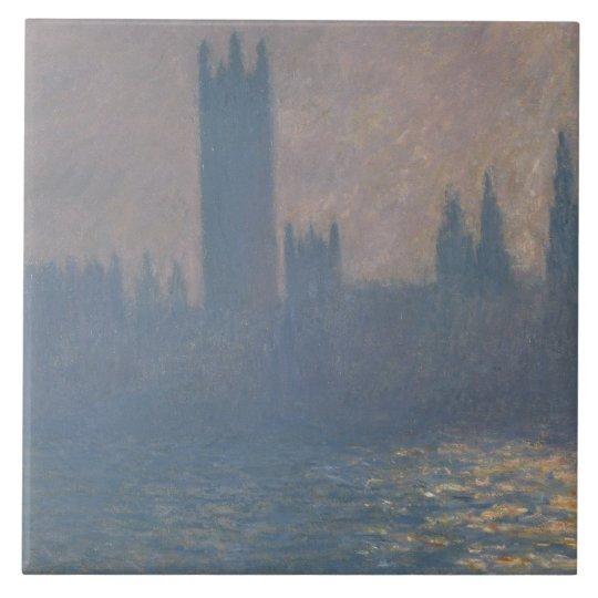 Claude Monet - Houses of Parliament, Sunlight Tile