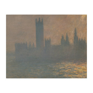 Claude Monet - Houses of Parliament, Sunlight Wood Canvases
