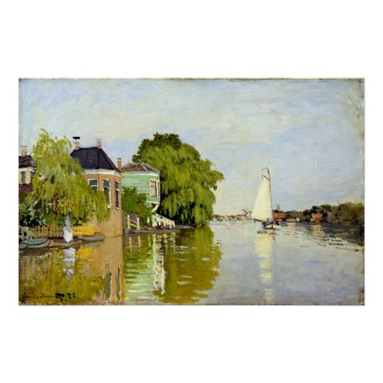 Claude Monet Houses on the Achterzaan Poster