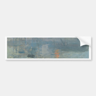 Claude Monet, Impression, soleil levant Car Bumper Sticker