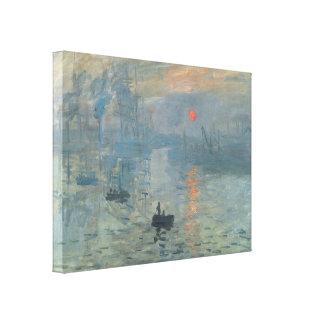 Claude Monet Impression Sunrise Soleil Levant Canvas Print