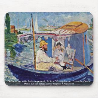 Claude Monet In His Studio (Argenteuil) Mouse Pad