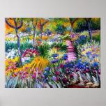 Claude Monet: Iris Garden by Giverny