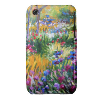 Claude Monet: Iris Garden by Giverny iPhone 3 Cases