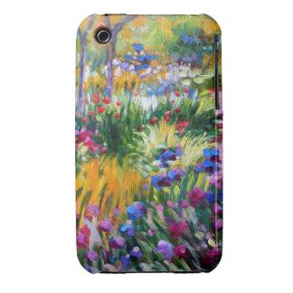 Claude Monet: Iris Garden by Giverny iPhone 3 Cases