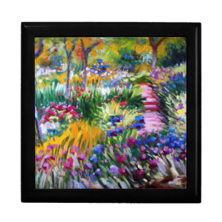 Claude Monet: Iris Garden by Giverny Large Square Gift Box