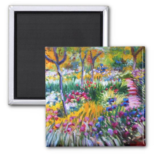Claude Monet: Iris Garden by Giverny Magnet