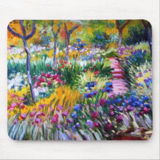 Claude Monet: Iris Garden by Giverny Mouse Mat
