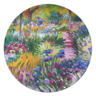 Claude Monet: Iris Garden by Giverny Plate