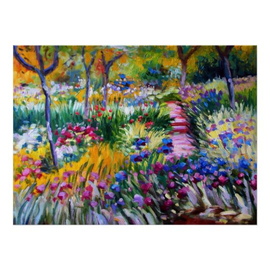 Claude Monet: Iris Garden by Giverny Poster