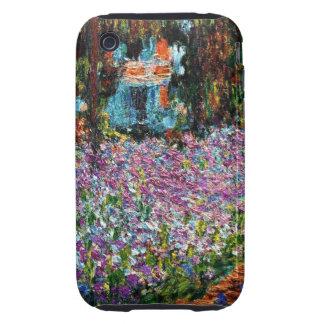 Claude Monet: Irises in Monet's Garden iPhone 3 Tough Covers