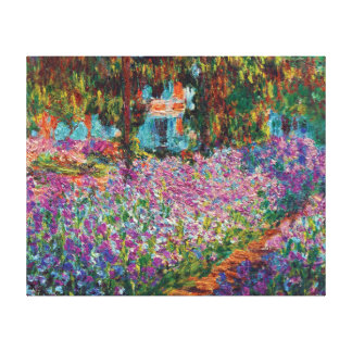 Claude Monet - Irises in Monet's Garden Gallery Wrapped Canvas