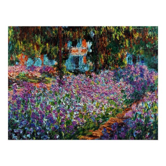 Claude Monet: Irises in Monet's Garden Poster