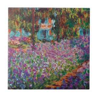 Claude Monet - Irises in Monet's Garden Tiles