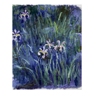 Claude Monet: Irises Poster