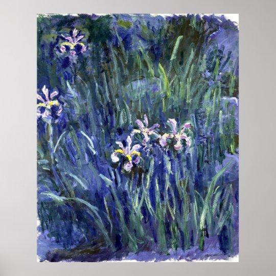 Claude Monet: Irises Poster