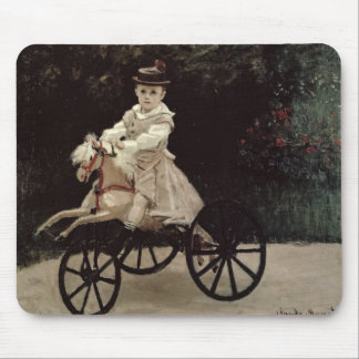 Claude Monet | Jean Monet on his Hobby Horse, 1872 Mouse Pad