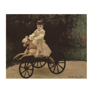 Claude Monet | Jean Monet on his Hobby Horse, 1872 Wood Canvas