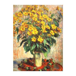 Claude Monet: Jerusalem Artichokes Gallery Wrap Canvas