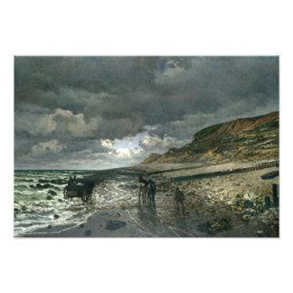 Claude Monet - La Pointe de la Hève at Low Tide Photo Print