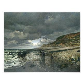 Claude Monet - La Pointe de la Hève at Low Tide Photograph