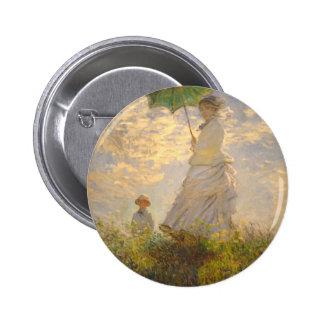 Claude Monet La Promenade Umbrella Buttons