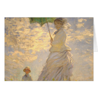 Claude Monet // La Promenade // Umbrella Greeting Cards