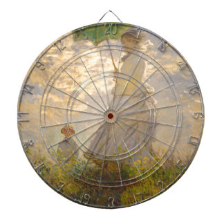 Claude Monet La Promenade Umbrella Dart Board