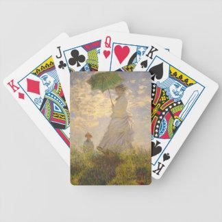 Claude Monet La Promenade Umbrella Poker Deck