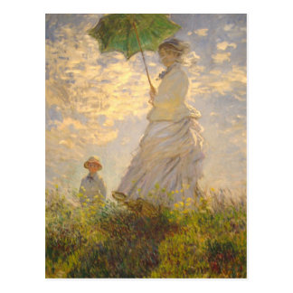 Claude Monet // La Promenade // Umbrella Postcard