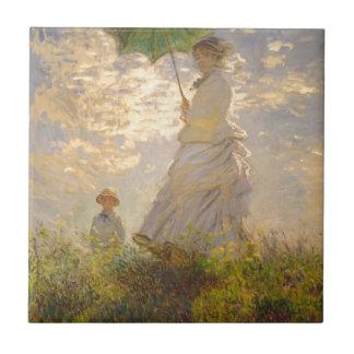 Claude Monet // La Promenade // Umbrella Small Square Tile