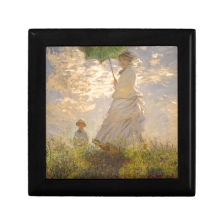 Claude Monet La Promenade Umbrella Trinket Boxes