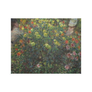 Claude Monet - Ladies in Flowers Stretched Canvas Print