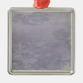 Claude Monet | Light-coloured Waterlilies Silver-Colored Square Decoration