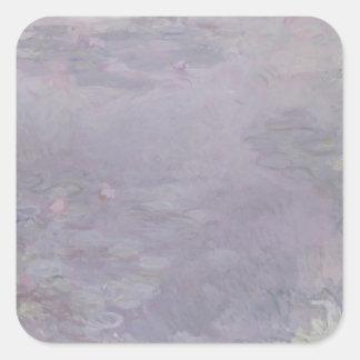Claude Monet | Light-coloured Waterlilies Square Sticker