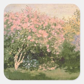 Claude Monet | Lilac in the Sun, 1873 Square Sticker