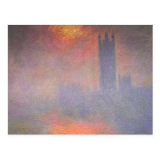 Claude Monet London Houses of Parliament UK Postcard