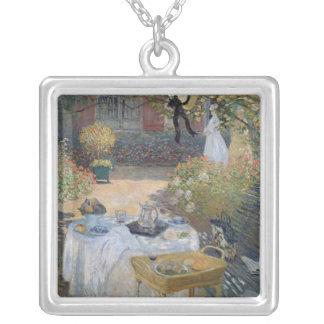 Claude Monet | Luncheon: Monet's garden Argenteuil Silver Plated Necklace
