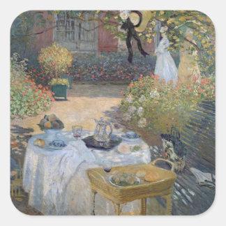 Claude Monet | Luncheon: Monet's garden Argenteuil Square Sticker