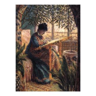 Claude Monet Madame Monet Embroidering Announcement