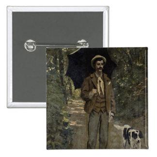 Claude Monet | Man with an Umbrella, c.1868-69 15 Cm Square Badge