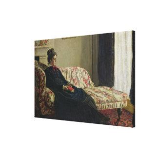 Claude Monet | Meditation or Madame Monet Canvas Print