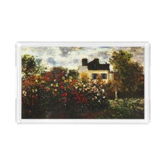 Claude Monet-Monet's Garden at Argenteuil Acrylic Tray